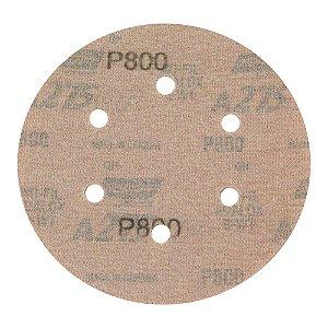 Disco de Lixa Pluma Speed-Grip A275 com 6 Furos Grão 800 152 x 0 x 6 mm Caixa com 100