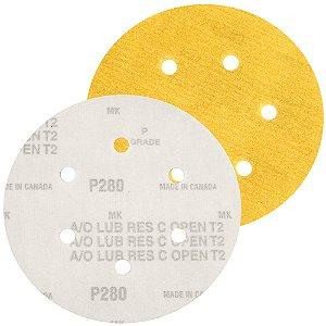 Caixa com 100 Disco de Lixa Pluma Speed-Grip A290 com 6 Furos Grão 280 152 x 0 x 6 mm