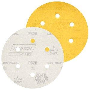 Caixa com 100 Disco de Lixa Pluma Speed-Grip A290 com 6 Furos Grão 320 152 x 0 x 6 mm