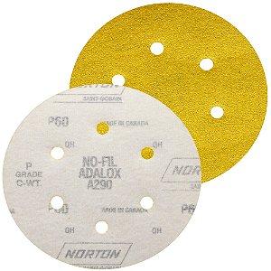 Caixa com 100 Disco de Lixa Pluma Speed-Grip A290 com 6 Furos Grão 60 152 x 0 x 6 mm
