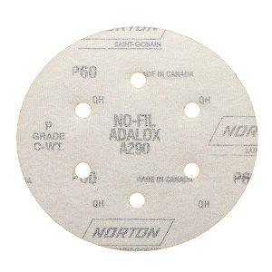 Disco de Lixa Pluma Speed-Grip A290 com 6 Furos Grão 60 152 x 0 x 6 mm Caixa com 100