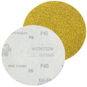 Caixa com 100 Disco de Lixa Pluma Speed-Grip A290 Grão 40 127 mm