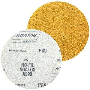 Caixa com 100 Disco de Lixa Pluma Speed-Grip A290 Grão 80 127 mm