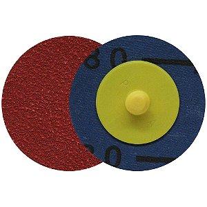 Caixa com 60 Discos de Lixa Speed Lok Troca Rápida R921 Grão 80 51 mm