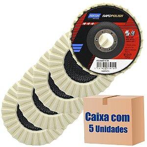 Pacote com 5 Disco de Polimento Rapid Polish Feltro 115x22 mm