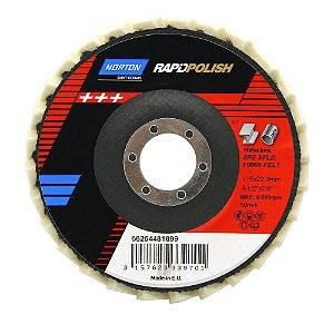 Disco de Polimento Rapid Polish Feltro 115x22 mm Pacote com 5