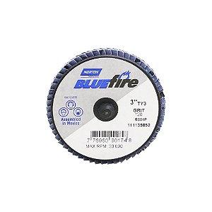 Disco Flap BlueFire Mini R884P Grão 120 76,2 mm Caixa com 10