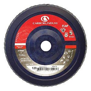 Disco Flap Carbo CAR82 Grão 120 180 x 22 mm Caixa com 5