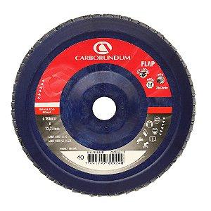 Disco Flap Carbo CAR82 Grão 40 180 x 22 mm Caixa com 5