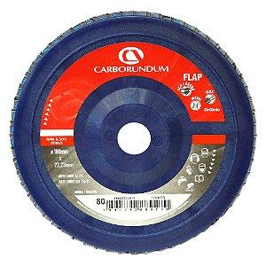 Disco Flap Carbo CAR82 Grão 80 180 x 22 mm Caixa com 5