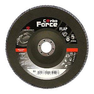 Disco Flap Carboforce LTF Grão 80 180 x 22 mm Caixa com 5