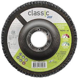 Disco Flap Classic R801 Grão 60 115 x 22,23 mm Caixa com 10