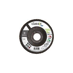 Caixa com 10 Disco Flap Classic Basic Fibra Grão 60 115 x 22,23 mm