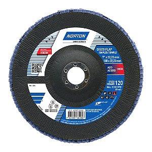 Caixa com 5 Disco Flap Original R822 Grão 120 180 x 22,23 mm