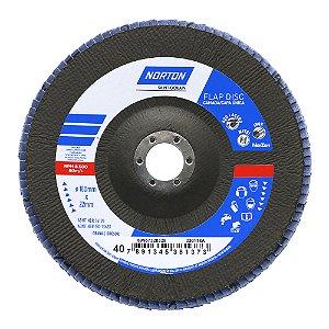 Disco Flap Original R822 Grão 40 180 x 22,23 mm Caixa com 5