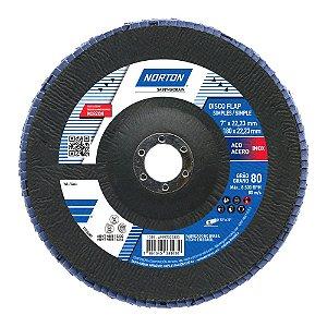 Caixa com 5 Disco Flap Original R822 Grão 80 180 x 22,23 mm
