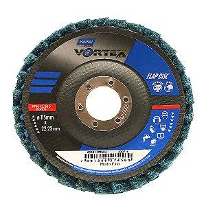 Disco Flap Vortex Muito Fino Azul 115 x 22 mm Caixa com 5