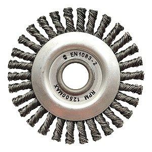 Caixa com 10 Escova Circular Trançada Aço Temperado 152,4 x 12,7 mm