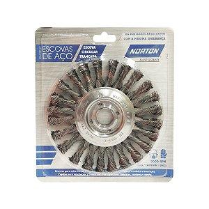 Escova Circular Trançada Aço Temperado 152,4 x 12,7 mm Caixa com 10