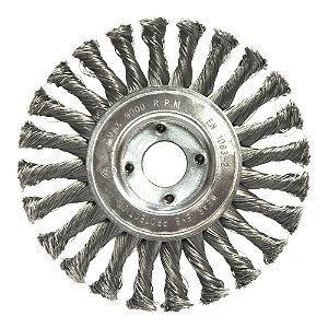 Caixa com 5 Escova Circular Trançada Aço Temperado 152,4 x 12,7 mm