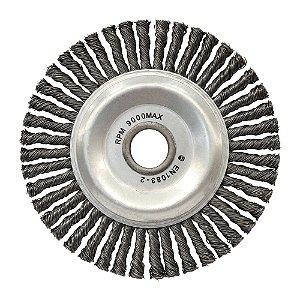 Caixa com 10 Escova Circular Trançada Aço Temperado 152,4 x 6,35 mm