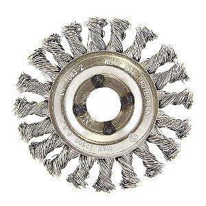 Escova Circular Trançada Inox 114,3 x 12,7 mm Caixa com 10