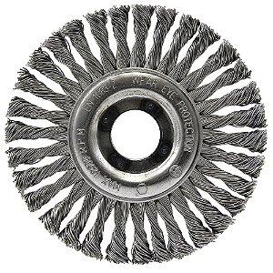 Escova Circular Trançada Inox 114,3 x 6,35 mm Caixa com 10