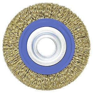 Escova de Aço Circular Ondulada 152,4 x 12,7 mm Caixa com 20