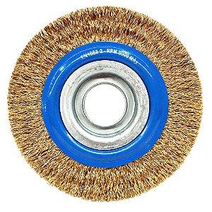 Caixa com 20 Escova de Aço Circular Ondulada 152,4 x 19 mm
