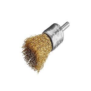 Caixa com 12 Escova de Aço D30 Aço Pincel Ondulado 030 T35 30 x 06 mm com Haste