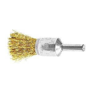 Caixa com 10 Escova de Aço Pincel Profissional com Haste de 17 mm