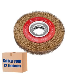 Caixa com 12 Escova Rotativa Ondulada D150 Latonada 030 A18 R51 150 x 18 x 22 mm