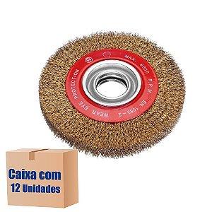 Caixa com 12 Escova Rotativa Ondulada D150 Latonada 030 A25 R51 150 x 25 x 51 mm