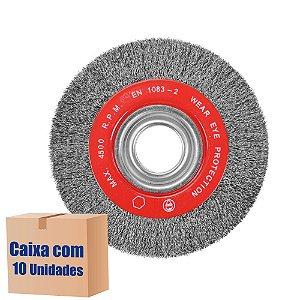 Caixa com 10 Escova Rotativa Ondulada D200 Aço 030 A25 R80 200 x 25 x 80 mm
