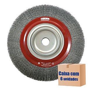 Caixa com 6 Escova Rotativa Ondulada D300 Aço 040 A46 R120 300 x 46 x 120 mm