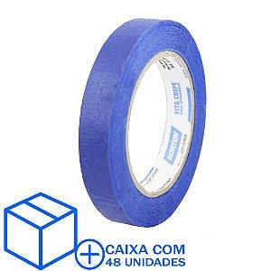 Caixa com 48 Fita Crepe Uso Geral Premium Azul 18 x 50 m
