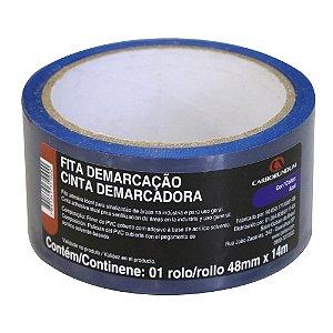 Fita PVC Azul Demarcação Solo e Sinalização 48 x 14 m Caixa com 10