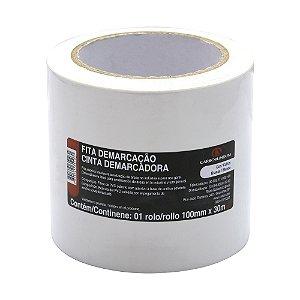 Fita PVC Branca Demarcação Solo e Sinalização 100 x 30 m Caixa com 4