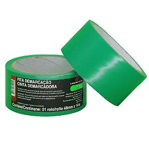 Caixa com 10 Fita PVC Verde Demarcação Solo e Sinalização 48 x 14 m