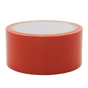 Caixa com 10 Fita PVC Vermelha Demarcação Solo e Sinalização 48 x 14 m