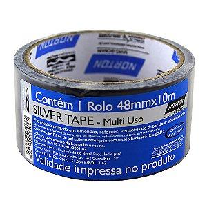 Fita Silver Tape Preta 48 x 10 m Caixa com 10