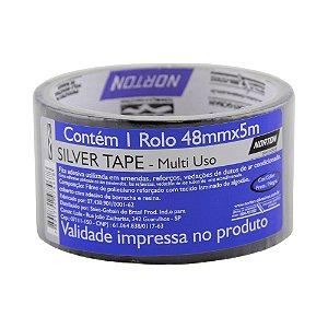 Fita Silver Tape Preta48x5 m Caixa com 12