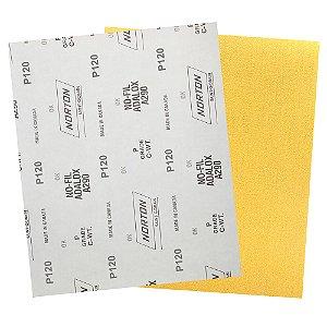 Pacote com 200 Folha de Lixa A290 Grão 120 230 x 280 mm