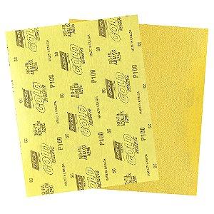 Folha de Lixa A296 Gold Grão 100 230 x 280 mm Pacote com 200