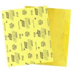 Folha de Lixa A296 Gold Grão 150 230 x 280 mm Pacote com 200