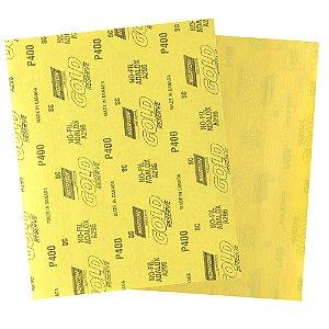 Pacote com 200 Folha de Lixa A296 Gold Grão 400 230 x 280 mm
