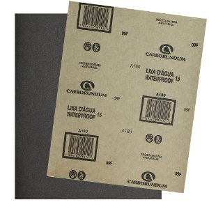 Pacote com 500 Folha de Lixa D'água CAR15 Grão 180 225 x 275 mm