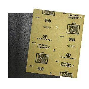Folha de Lixa D'água CAR15 Grão 220 225 x 275 mm Pacote com 500