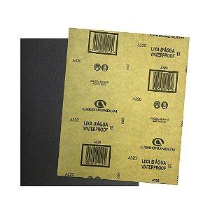 Pacote com 500 Folha de Lixa D'água CAR15 Grão 320 225 x 275 mm