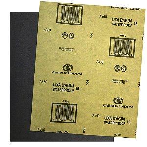Pacote com 500 Folha de Lixa D'água CAR15 Grão 360 225 x 275 mm